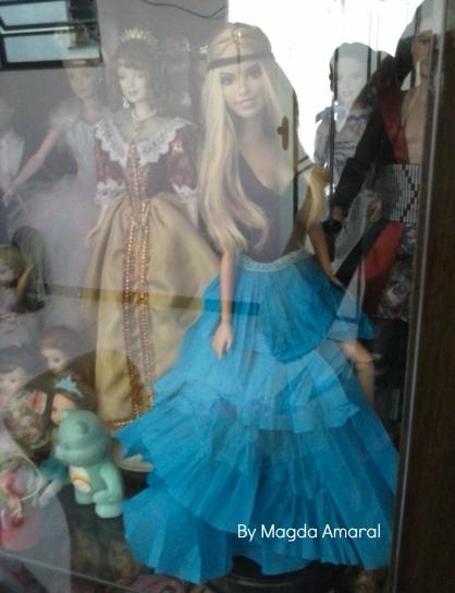 Summer já customizada em exposição na minha cristaleira; Foto: Magda Amaral/Blog Barbies Collectors